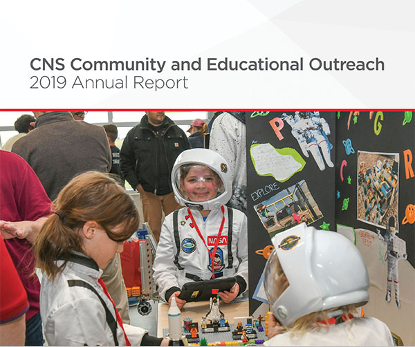 CNS Community and Educational Outreach – 2019 Annual Report Cover
